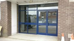 Window and door replacement before after photos of replacement aluminium shop front with anti sun glass . window and door Midcentury Modern, Modern Interior, Front Doors With Windows, Before After Photo, French Doors, Vintage Shops, Small Spaces, Door Replacement, Sun