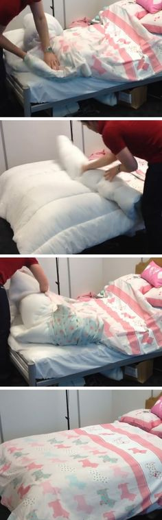 60 Second Duvet Trick (Better than the Burrito Roll)   Click Pic for 25 Simple Life Hacks Every Girl Should Know   Household Tips and Tricks for Life