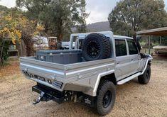 Rc Trucks, Cool Trucks, Pickup Trucks, Custom Ute Trays, Flatbed Truck Beds, Ute Canopy, Land Cruiser 70 Series, Car Camper, Toyota Hilux