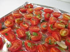 Slow Roasted Tomatoes  Makes 24  Any size or type of tomato can be slow-roasted but the timing will vary depending on the size and juiciness...