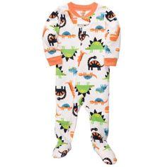 Carter's Baby-boys Happy Dinosaurs Fleece Footed Pajamas | Layette 9