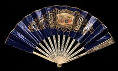 Fan, 1840–59. European. Ivory, paper, mother-of-pearl, metal. Brooklyn Museum Costume Collection at The Metropolitan Museum of Art.