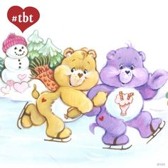 Care Bears: Champ Bear and Share Bear Ice Skating