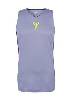 Майка Nike / Найк Цвет: фиолетовый. Сезон: Весна-лето 2014. С бесплатной доставкой и примеркой на Lamoda. http://j.mp/1nLPTMl