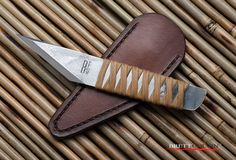 https://flic.kr/p/GDaPnM | Brute Force Blade Works Traditional Kiridashi | Japanese Fixed Blade Knife | Carving, Cutting, Hand Made | Leather Pocket Sheath | Tactical Knife Blade
