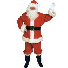 Santa Claus Suit Basic 10pc Complete Adult Costume Size Standard *** You can find more details by visiting the image link-affiliate link.