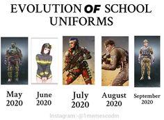 "Codmemes.Hub🔵(3k+followers) on Instagram: ""School uniforms evolution in CoDM be like 😂…"" Call Off Duty, School Uniforms, Cod, Evolution, Instagram, French Toast Uniforms, Cod Fish, Fans"