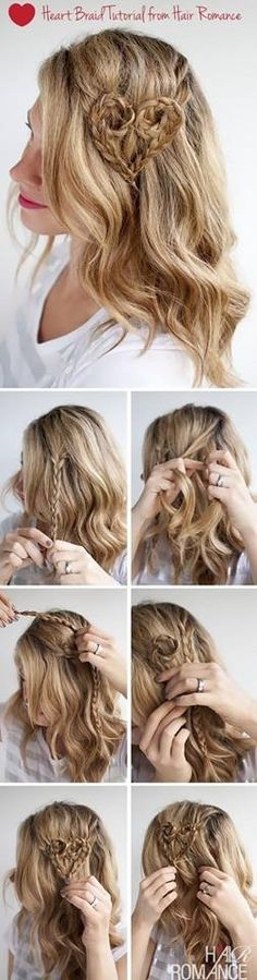 Heart Shape Braided Hair Tutorial