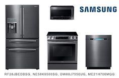 Samsung Black Stainless Steel Kitchen Appliance Package