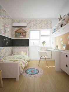deco chambre fille papier peint fleurs et oiseaux - Le blog déco ...