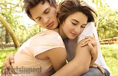 Shailene Woodley and Ansel Elgort playing Hazel Grace and Augustus Waters in The Fault in Our Stars✨ Hazel Grace Lancaster, Shailene Woodly, John Green Books, Augustus Waters, Ansel Elgort, Romance, Tfios, Entertainment Weekly, The Fault In Our Stars