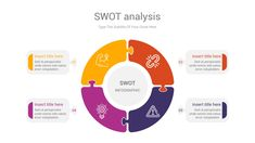SWOT analysis is an impressive chart template to identify strengths, weaknesses, opportunities, and threats related to business competition or project planning concepts through shape diagrams. 49 Unique slides designed by professionals that you can easily edit and fill out with your personal content, All objects are vectors objects, and they are fully editable, all icons used are smart object and vector Swot Analysis, Color Themes, Colors, Slide Design, All Icon, Powerpoint Presentation Templates, Sales And Marketing, Vectors, Illustrator