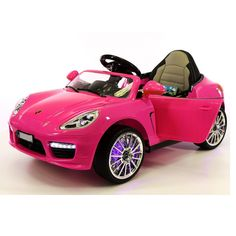 sports cars kids luxury pink ride on toys porsche boxster style power wheels 12v pink