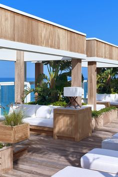 Snag one of the private cabanas early in the morning, which comes with ocean views. #Jetsetter