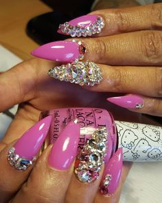 Pink Nailz with Bling
