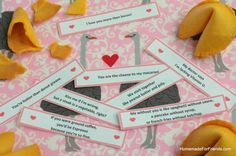 Romantic and Funny Quotes: Great for Valentine's Day Fortune Cookies!