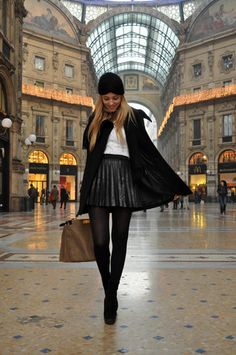 The leather skirt and the turban (by Chiara Ferragni) http://lookbook.nu/look/1508719-The-leather-skirt-and-the-turban
