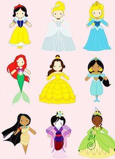disney princess chibis