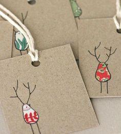 --------- Etiquetas de Natal --------- Este ano, utiliza papel reciclado para identificar as prendas. O ambiente não será o único a agradecer.