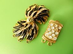 Two Clasps for jewelryvintage 1960 elegance and by RAKcreations