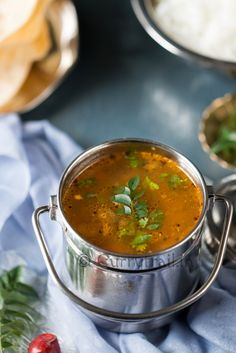 Flavorful, delicious kalyana rasam. Rasam that is served in South Indian marriage