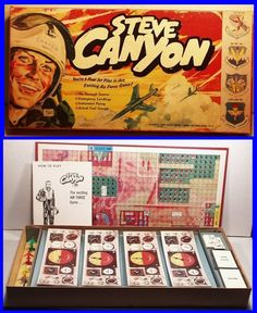 Vintage 1959 STEVE CANYON USAF Air Force Board Game, by Lowell Toy Mfg.