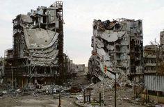 Libération. Syrie, Homs après deux ans de guerre. Photo Yazan Homsy/Reuters. mars 2013