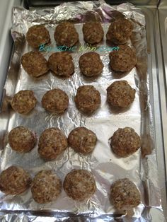 Incredible Baked Meatballs...with ground sirloin and Parm