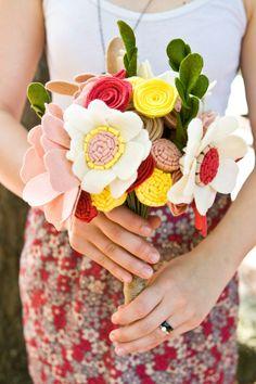 Custom Wedding Wildflower Felt Bouquet  by munclefredart on Etsy, $96.00