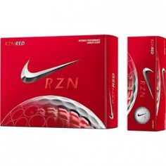 Balles de golf NIKE RZN Red Rugby, Diffuser, The Unit, Nike, Retail Price, 3 Piece, Distance, Cover, Golf Accessories