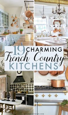 19 Charming French Country Kitchens French Country Kitchens, French Country House, French Farmhouse, French Country Decorating, Grey Floor Tiles, Grey Flooring, Decorating Your Home, Decorating Ideas, Wooden Island