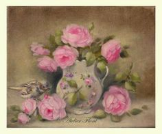 Rose bouquet & little sparrow by helen Flont http://laboutique-atelier-flont.blogspot.fr/