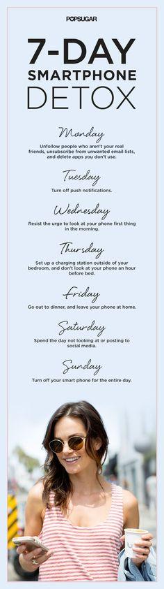 plan de siete dias para desintoxicarse del móvil