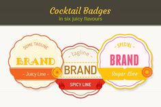 Cocktail Badges ~ Web Elements on Creative Market