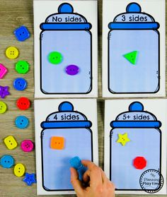 Classifying Shapes - Kindergarten Math GameYou can find Shapes and more on our website. 3d Shapes Kindergarten, Kindergarten Math Games, Preschool Curriculum, Preschool Learning, Preschool Activities, Maths, Ideas Habitaciones, Shapes Worksheets, Math Centers