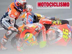 """44 días para que comience el #GPJerez, recordando aquella """"caída"""" de Rossi y Stoner en 2011. Vía @motociclismo_es"""