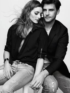 Olivia Palermo OP & Johannes Huebl for Madame Figaro France black and white photography Couple Posing, Couple Portraits, Studio Portraits, Portrait Poses, Couple Shoot, Style Olivia Palermo, Olivia Palermo Lookbook, Olivia Palermo Wedding, Couple Photography