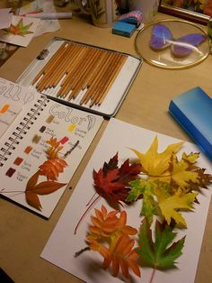 Fall Color Leaf Nature Journal - Favorite Fall Things to Do via @HarmonyFineArts