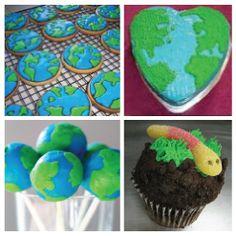 earth  / globe cakes