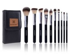 Ombre 10 Piece Brush Set with Travel Pouch | SHANY Cosmetics