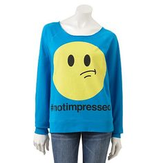 Freeze NotImpressed Sweatshirt - Juniors $9.00 Kohls @Heather Creswell Creswell Creswell Snyder Cherrone
