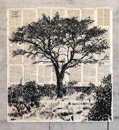 """""""A Poem I used to Know"""" um desenho de 2012 com tinta da china sobre páginas de livro retiradas do Dicionário Universal De Tecnologia, tem de dimensões 153 por 176 cm."""