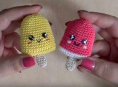 tutorial con schema per fare ghiacciolo con tecnica amigurumi. ☀CQ #crochet…