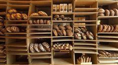 Exhibidor de pan rustico
