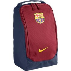 Barcelona Nike Allegiance Shoe Bag 2012 by Nike. $13.81. This is the Barcelona Nike Allegiance Shoe Bag 2012, it is a waterproof bag with tarpaulin base which protects the contents when it is put on a wet changing room floor or in wet weather. The interior of the bag is easily accessed with a large zip opening, this ensures football boots and sports shoes can easily be stowed away and also means it is easier to keep the shoe bag clean. In the traditional Barce...