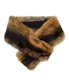 Loving this Imposter Brown Faux Chinchilla Fur Pull-Through Scarf on #zulily! #zulilyfinds