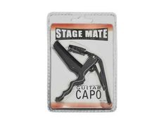 The Stage Mate Guitar Capo is a fast action heavy duty guitar capo that makes key changes quick and easy. Featuring a heavy duty high tension spring and durable all metal design, the Stage Mate Capo stays put and insures proper tension for perfect intonat