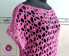 Crochet lacy oversized top - Maz Kwok's Designs