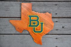Baylor BU Texas plaque // This is so classy. Imagine it in your office or Bear cave!