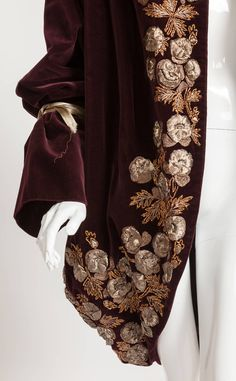 Romeo Gigli - Velvet Cocoon Coat from the Orientalist Collection 1989-90